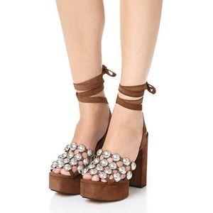 Alexander Wang Alys platform sandals. Size 36.5